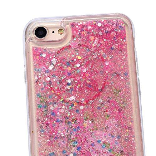 Cover per iPhone 7, Tpulling Custodia per iPhone 7 Case Cover Multicolore Quicksand Copertura ultra-sottile di cromo di lusso per il iPhone 7 4.7 pollici (A) A