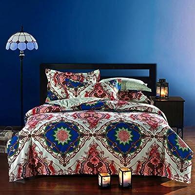 FADFAY Bohemian Style Duvet Covers Bedding Set Queen Size Boho Bedding 4 Pieces - inexpensive UK light shop.