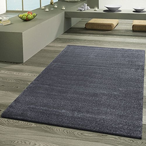 Teppich Wohnzimmer Designer Teppiche Hochwertig Frieze Schimmer Optik Anthrazit, Größe:120x170 cm (Frieze-teppich)