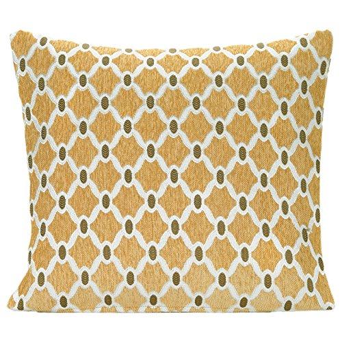 Decor Home Baskets (Just Contempo 45,7x 45,7cm schwarz Basket Weave Kissenhülle, Polyester, Gold Geometric Chenille, 22x22)