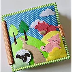 Heads and Tails - 8 Page Quiet Book/ Busy Book/ Felt Book/ Fabric Book