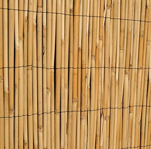 Rollo de Vallado de Caña de Bambú Valla Panel para Jardín, de Madera al aire libre por Papillon
