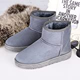 Chaussures coton chaud épais des bottes d'hiver Bottes courtes femmes télévision short velours chaud matelassé ajouter étudiants, gris, 37