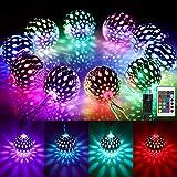 Marokkanische Kugel LED Lichterkette Außen, 16 Farben Orientalisch Bunt Lichterkette Kugeln RGB, 4M 20 LED Farbwechsel Fairy Lights mit Stecker...
