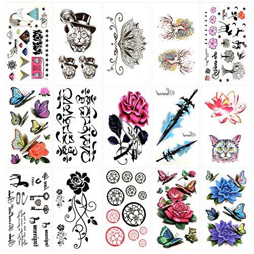 Kleine Nette Temporäre Tattoos Lotus Rose Schwert Schmetterling Deer Katze Radio Sanskrit Pferd (Pferd-radio)