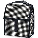 PackIt Gingham - Bolsa porta-alimentos para el almuerzo, 13 x 22 x 25 cm, color blanco y negro