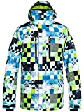Quiksilver Mission Printed, Snow Jacket Uomo, Lime Green/Money Time, S