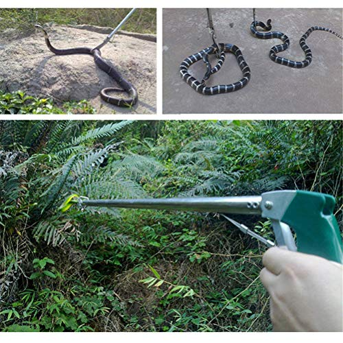 GFYWZ Edelstahl Snake Catcher Retractable Wide Jaw Snake Zange Handwerkzeug Reptilien Catcher Clamp Grabber Lock,NotFolding100cm