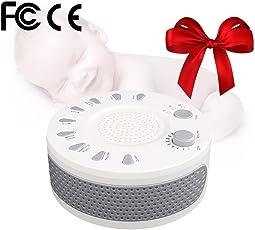 Warooms Schlaf Sound Gerät, 9 White Noise Sound Machine zum Schlafen Premium Noise Cancelling tragbares Gerät - Perfect Baby Adult Gift