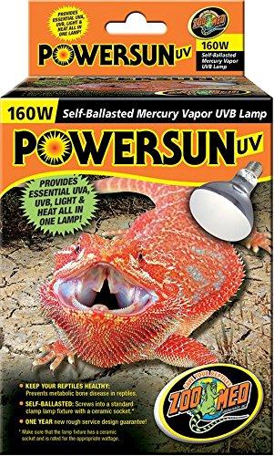 Zoo Med PUV-10E PowerSun UV Lampe für Reptilien 160 Watt