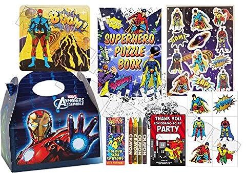 Pre Filled Avengers Superhero Party Box - Super Hero Parties Marvel Boys Bags