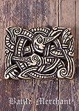 Cinturón Hebilla–Criatura imaginaria LARP gürtelschließe Vikingo Medieval Plata o bronce marrón