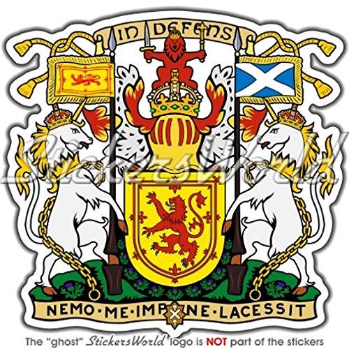 Schottland Royal Wappen Abzeichen Wappen UK 90mm (8,9cm) Vinyl Bumper Aufkleber, Aufkleber