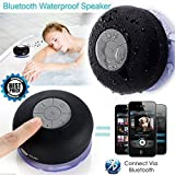 Water Proof Bluetooth Shower Speaker With Mic Wireless Stereo Shower Speakers Portable Waterproof Bluetooth Wireless Stereo Shower Speakers, - Best for Bath, Pool, Car, Beach, Indoor/Outdoor Use (Multi colors )by Marklif