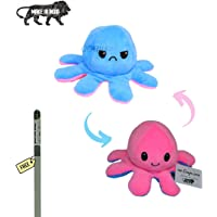 Caaju Reversible Octopus Mini Plush - Stuffed Animal Toy with plantable Pencil (1) | Show Your Mood Without Saying a…