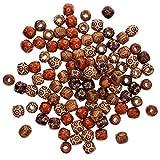 200 pezzi 17mm Assorted Painted Barrel perline di legno, bordare perline di legno sciolto fai da te