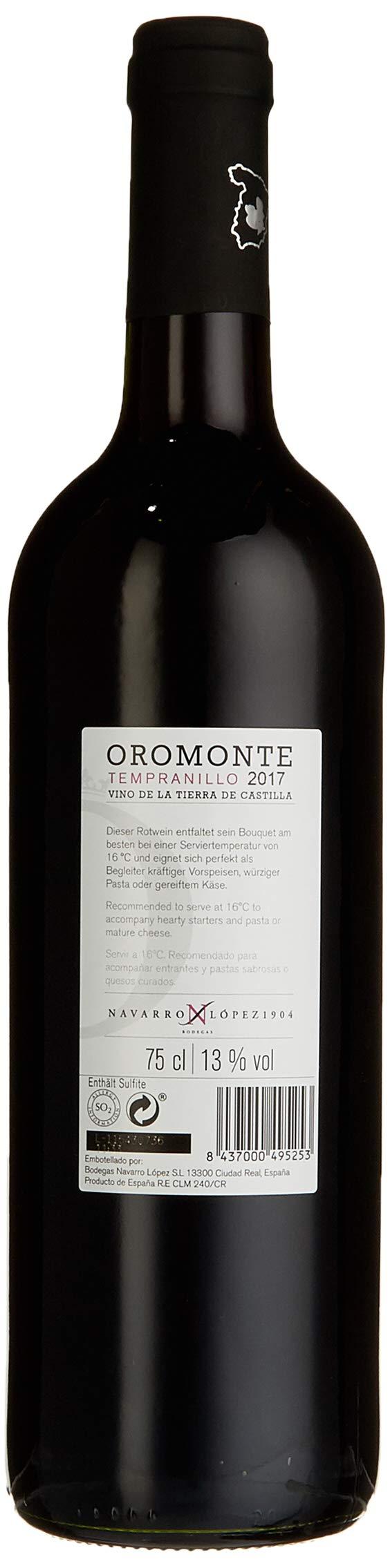 OROMONTE-TEMPRANILLO-NAVARRO-LOPEZ-2017-Trocken-6-x-750-l