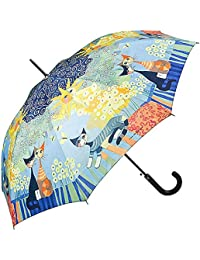 VON LILIENFELD Paraguas Automática Mujer Motivo Arte Gato Rosina Wachtmeister: