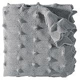 Eagle Products Strickdecke Wolle platin Größe 160x200 cm