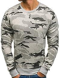 BOLF – Sweatshirt – Style sportif – U-neck – Camouflage – Homme 1A1