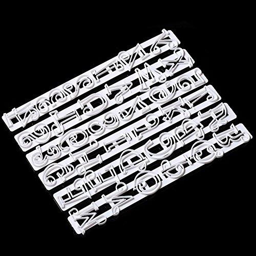 Willtone Lettere Numeri Stampini per Pasta di Zucchero Dolci Biscotti Torte Stampini Lettere Alfabeto Formine Taglierine Cake Design (Lettere Grandi)