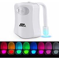 Lampe Toilette Veilleuse LED Détecteur - Mouvement Eclairage Lampe Toilette LED pour Salle de Bain/Seau d'aisances…