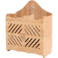 HomeDecTime Porte-ustensile Support à Couverts en Bois 15X7X18.5cm