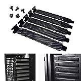 5 x schwarz PCI-Slot Bezug Staub Filter Abdeckplatte harter Stahl mit Schraube