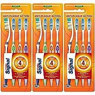 Signal brosse à dents 4 actions souple Lot x4 - Lot de 3