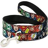 Buckle Down 'DC Comics Justice League Pet Leash, 4'x 2,5cm, Batman The Flash Green Lantern Superman