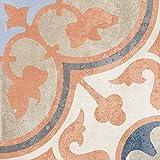 Bodenfliesen, Zement/Retrooptik Dekor 4, 18,6x18,6x0,8cm, 1 Krt=1,04qm, MOES230