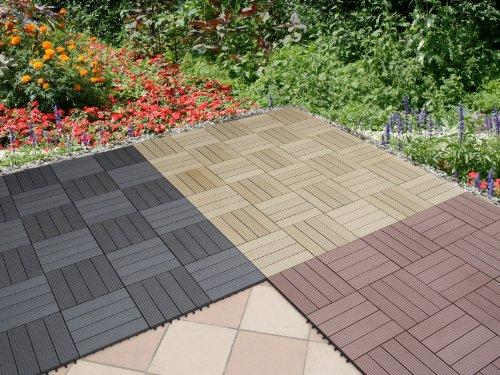 Bello na mattonelle per pavimento in wpc cm legno