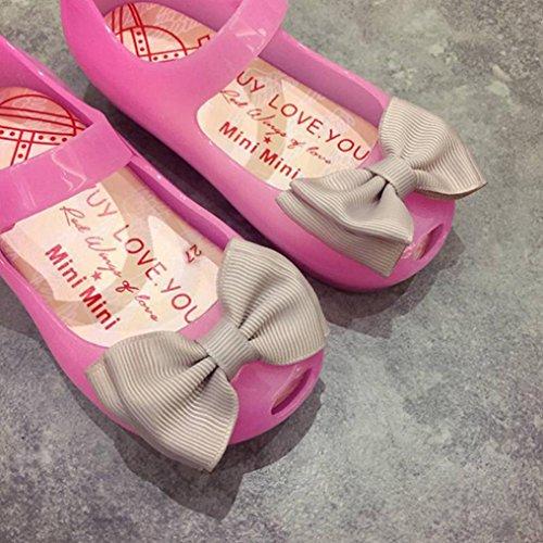 2017 Sandales d'été pour filles, Koly Chaussures Bébé Sandales à la gelée lumineuse Chaussons allumés à laine douce pour les enfants tout-petits Rose