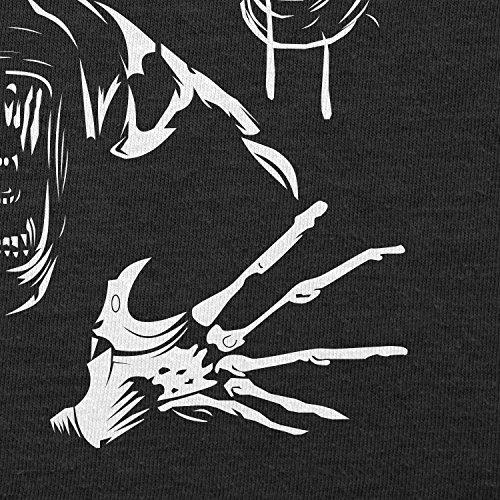 TEXLAB - The Extraterrestrial Queen - Herren Langarm T-Shirt Schwarz