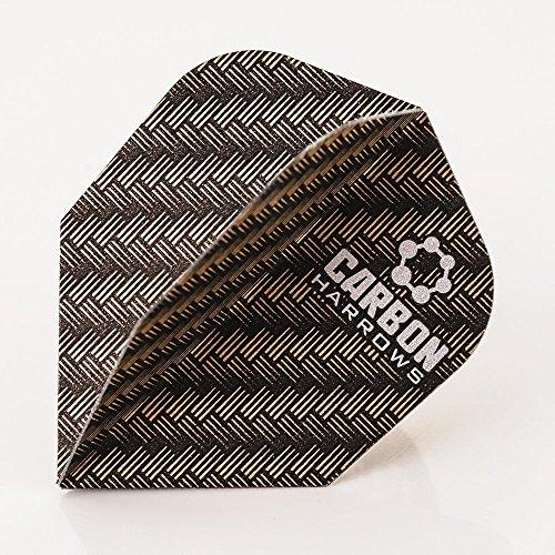 Harrows Carbon Flights Bronze 100 Micron, 3er Set