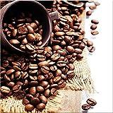 artissimo, Glasbild, 30x30cm, AG2073A, Java I, Küchenbild, Kaffee, Bild aus Glas, moderne Wanddekoration aus Glas, Wandbild Wohnzimmer modern