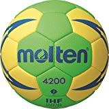 molten Handball H2X4200-GY-X, Grün/Gelb/Blau, 2
