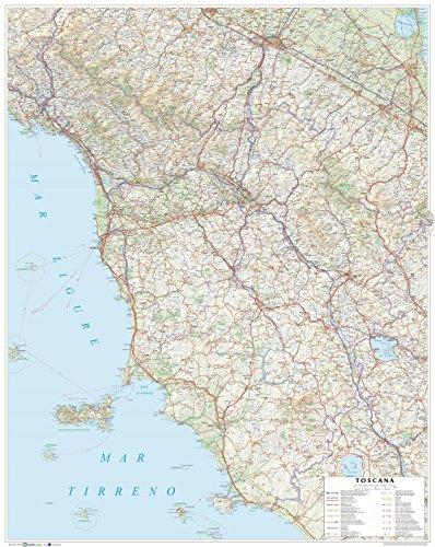 Toscana. carta stradale della regione 1:250.000 (carta murale plastificata stesa cm 86x108)