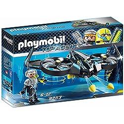 Playmobil Agentes Secretos Mega Drone, Color Negro (9253)