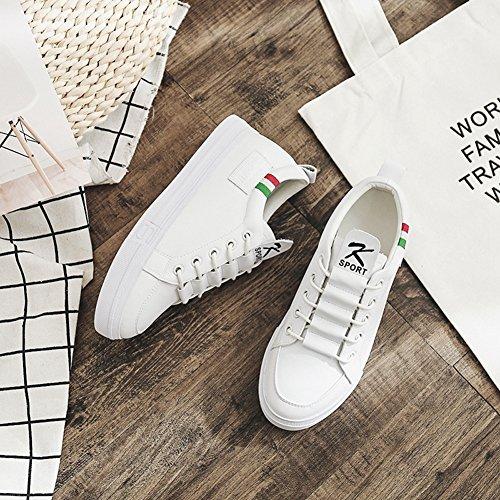 Scarpa Piccolo Jrenok Moda Di Sport Pelle Bianco Basket In Comodo 39 Primavera Sneaker 35 Femminile Bianca XxqwX1BS