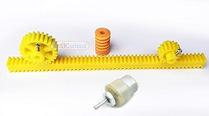 Rack spur Worm Gear Pinion Motor Set