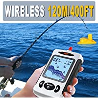 Bainuojia Pescado Finder Wireless Color portátil Portable Pesca conectividad Sonar Sensor LCD Profundidad Finder Echolot