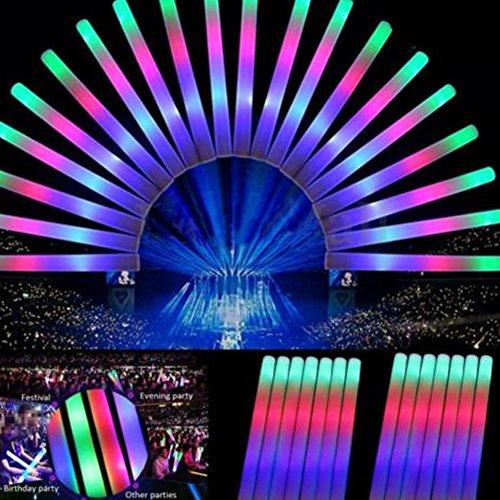36 Stücke LED Leuchtstab aus Schaumstoff, Multicolor LED Schaum Licht, Leucht Sticks Farbe ändern Rally Rave Cheer Tube Weiche Glow Baton Stäbe für Sportveranstaltungen, Konzerte, Weihnachtsfeiern