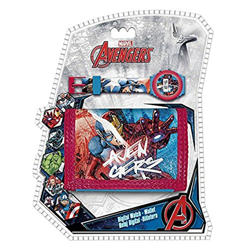 Set reloj digital billetera Los Vengadores Marvel