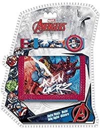 Marvel Avengers Kids Digital Watch and Wallet Set Coin Pouch, 25 cm, Multicolour