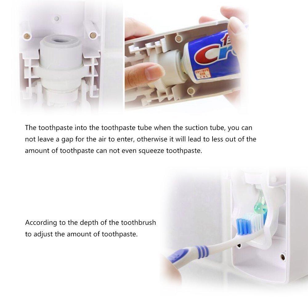 con di porta-spazzolini Dispenser automatico unico per dentifricio da montare alla parete