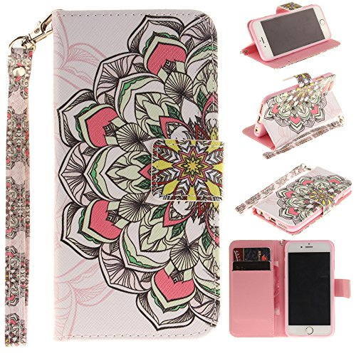 Nutbro iPhone 6 Case, iPhone 6S Case, Leather Wallet Case Back Cell Phone Shell Skin Magnetic Flap Cover with Credit Card Holder for iPhone6 / iPhone6 TX-iPhone-6-65
