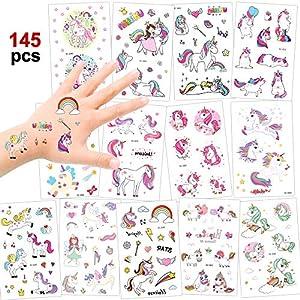 Konsait 145 Tatuajes temporales Unicornio,