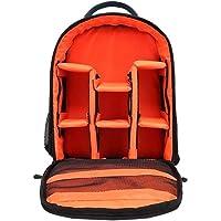 SMILEDRIVE Waterproof DSLR Backpack Camera Bag, Lens Accessories Carry Case for All SLR Cameras (Black and Orange, Made…