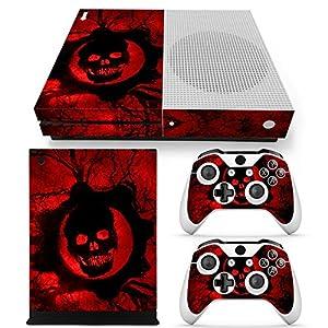 Microsoft XBOX ONE S Skin Design Foils Aufkleber Schutzfolie Set – Red Skull Motiv